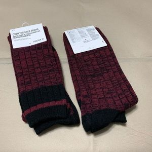 6a645ddc0 Forever 21 Accessories - NWT 2 pairs Forever 21 Burgundy Over the Knee